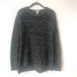 Forever 21 cable knit sweater black/white - Small